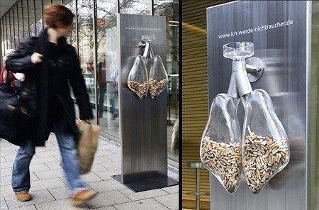 德国街头的烟灰缸创意设计-嗡啪设计