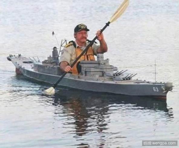 军舰模型小艇