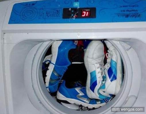 邻居拿洗衣机洗鞋 是不是得跟他们说说