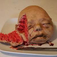 恐怖蛋糕图片:婴儿脑袋