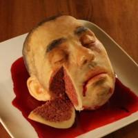 恐怖蛋糕图片:成人脑袋