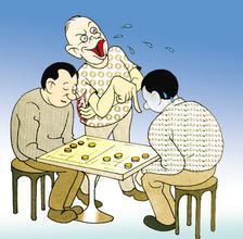 【笑话】楼下有个大爷,喜欢摆棋局,有两把刷子所以老赢