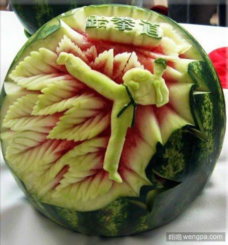 让人叹为观止的西瓜雕刻作品