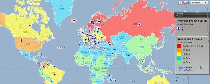 全球女性胸部大小排名:俄罗斯最大 中国最小