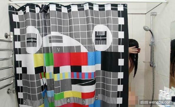 创意浴室帘子 童年的回忆