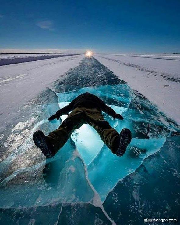 加拿大黄刀镇(Yellowknife)Dettah冰冻公路(Dettah Ice Road)