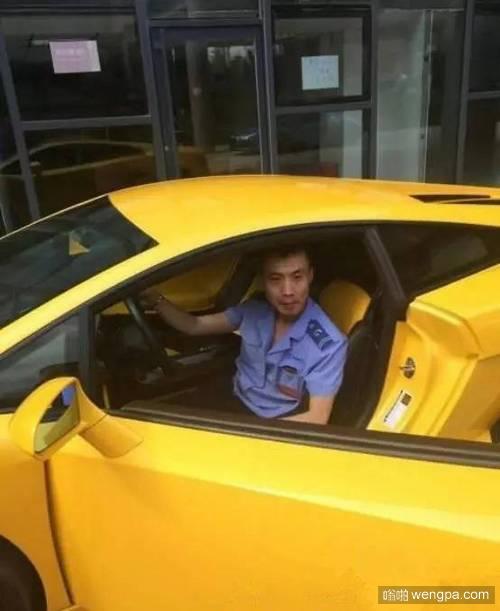 网曝土豪公交司机开兰博基尼上下班