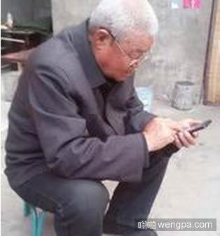 老爸第一次用微信