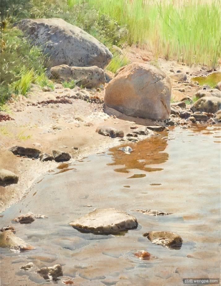 瑞典籍波兰画家斯坦尼斯劳·左拉兹超写实水彩画作品