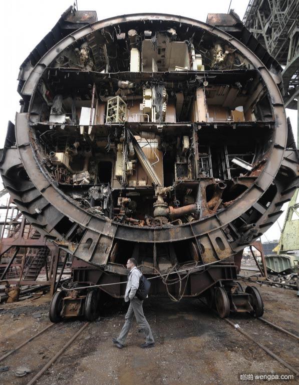 俄罗斯核潜艇被拆除