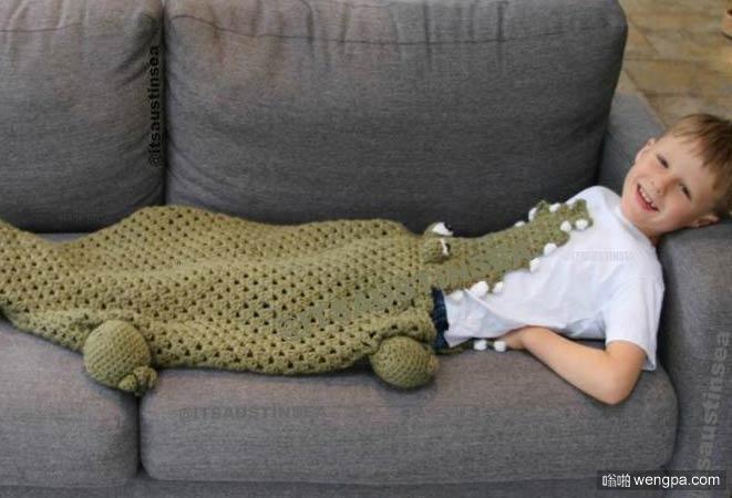 创意鳄鱼毛毯