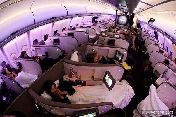 飞机也有卧铺了:维珍大西洋航空公司飞行至香港客机全卧铺