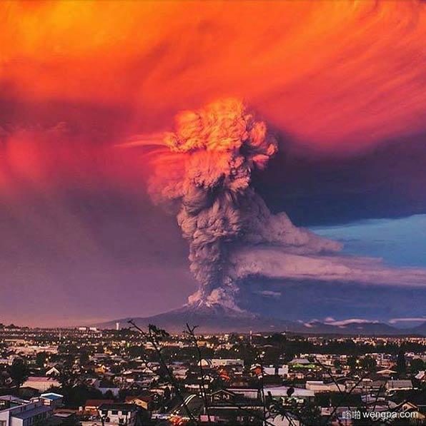 智利Calbuco火山爆发