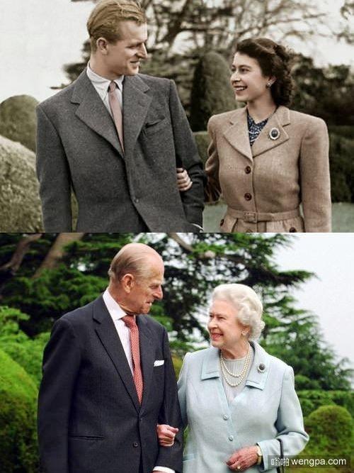 伊丽莎白女王和菲利普亲王 结婚65周年