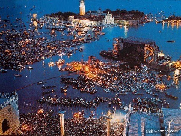 Pink Floyd乐队的演唱会在威尼斯,1989年