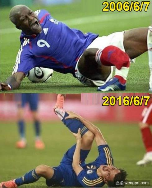 如此相似:西塞和乌兰相隔整整十年在中国热身赛场断腿