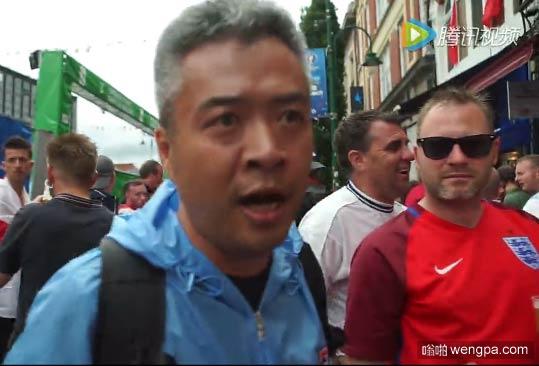 """【视频】段暄直播英格兰球迷骚乱 头发花白变身""""战地记者"""""""