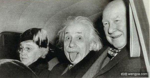 著名的爱因斯坦吐舌头照片出处-嗡啪网
