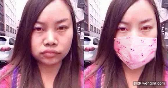 女生买个口罩是多么的重要和明智啊
