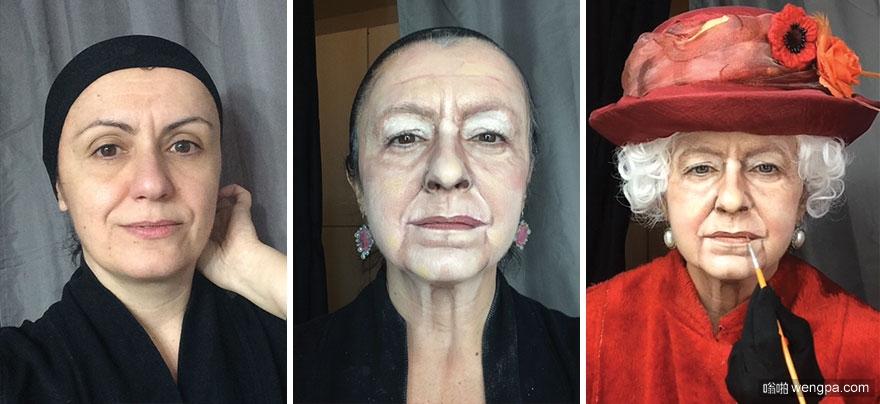 疯狂的化妆技巧 化妆艺术家Lucia Pittalis将自己化妆成许多名人(16图)
