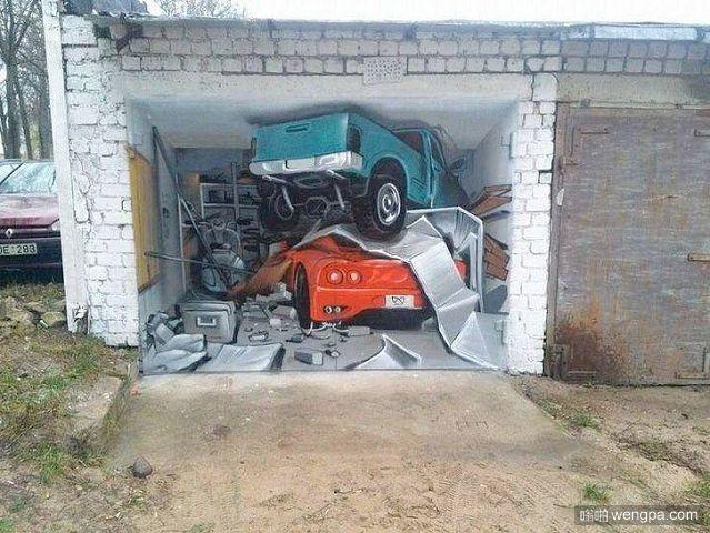 老爸说把这面墙粉刷一下