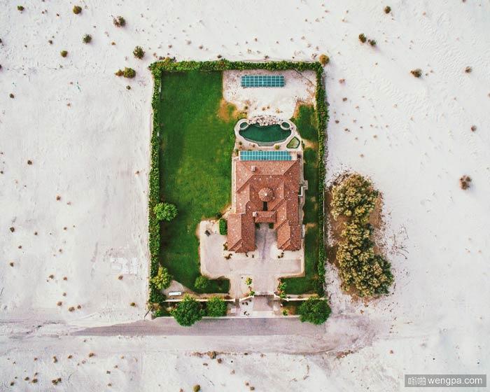 从美国上空拍到的一些照片