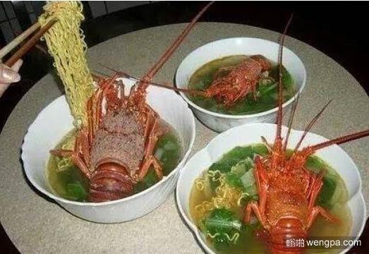 龙虾泡面 土豪的晚餐