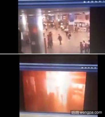 台湾松山火车站爆炸瞬间监控视频 嫌犯被警方锁定-嗡啪视频