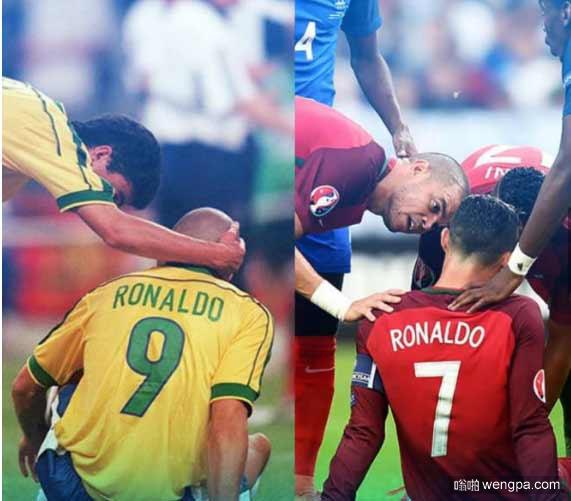 两个罗纳尔多 同一座球场 同样的决赛场景 同样的对手法国队