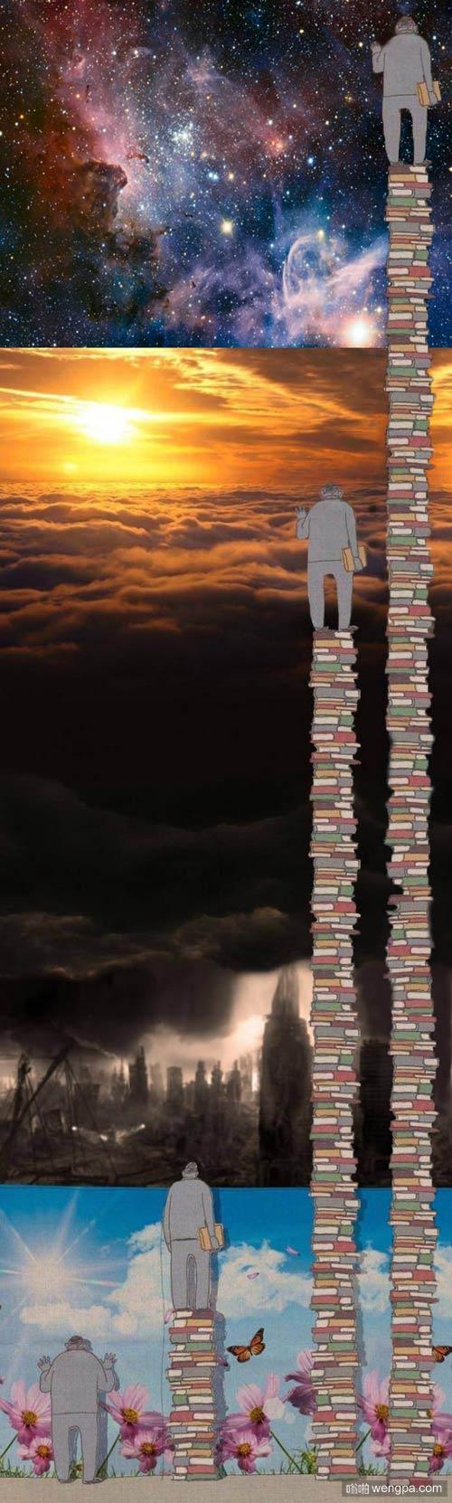 很有寓意的一张图 知识厚度决定视野?