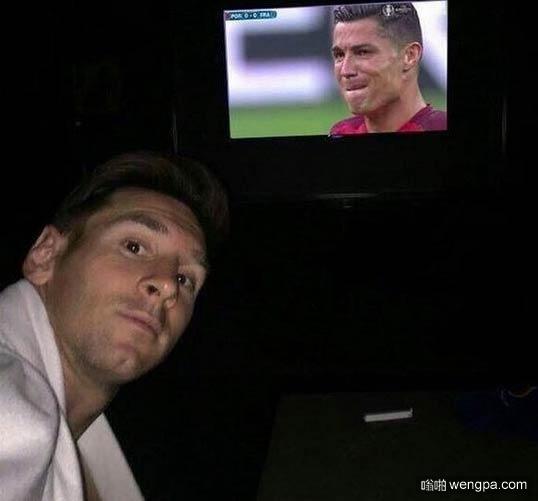 ahahaha 梅西看欧洲杯决赛