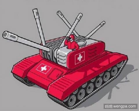 【瑞士军刀坦克】如果瑞士遇到战争 他们的武器是这样的 - 嗡啪搞笑图片