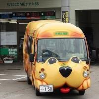 日本卡哇伊校车 据说这种可爱的校车只有日本才有