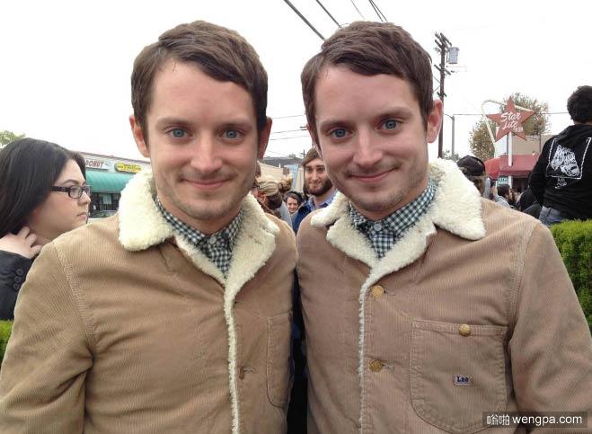 双胞胎兄弟 简直就是镜像的有木有