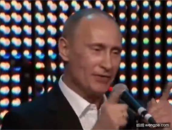 【恶搞视频】普京参加俄罗斯好声音 三个导师转身后一脸懵比! - 嗡啪视频