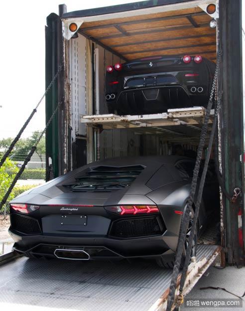 新买的车到货了