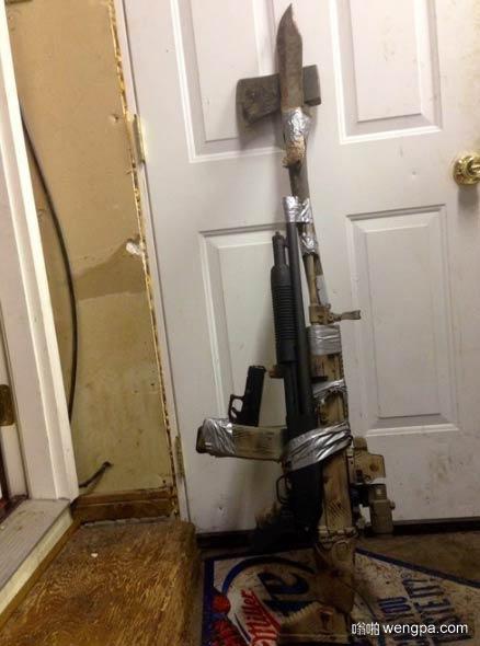 在得克萨斯州家庭的武装