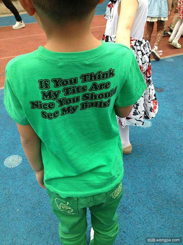 30+不认识T恤上的英文含义闹出的尴尬笑话