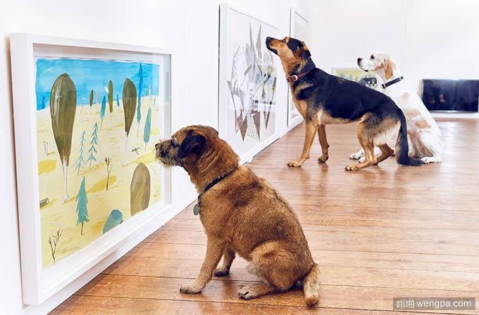 世界上第一次针对狗的画展