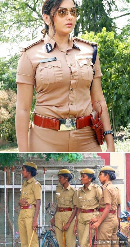 印度女警这样的 看的下巴都掉了 _印度女警察 - 嗡啪网