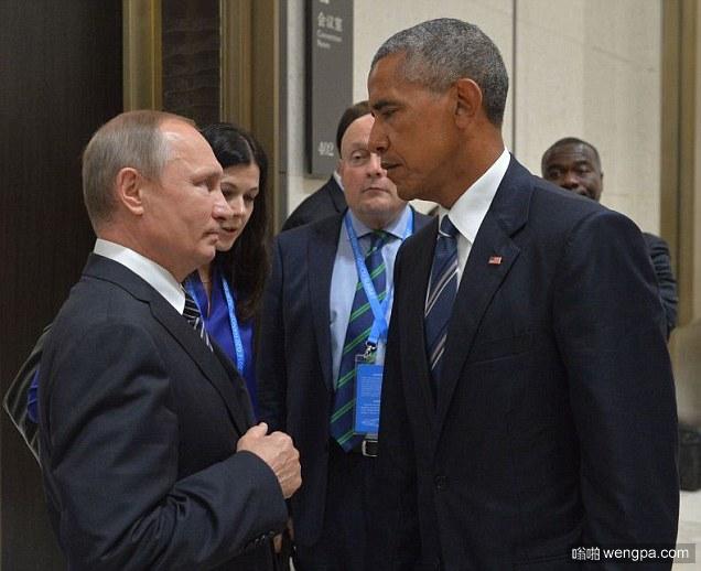 奥巴马死亡凝视普京:世界上最强大的两个男人在G20峰会上最紧张的时刻