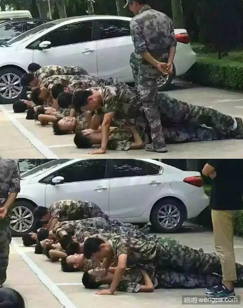 一年一度的新生军训又开始了 军训基友搞笑图片 - 嗡啪网