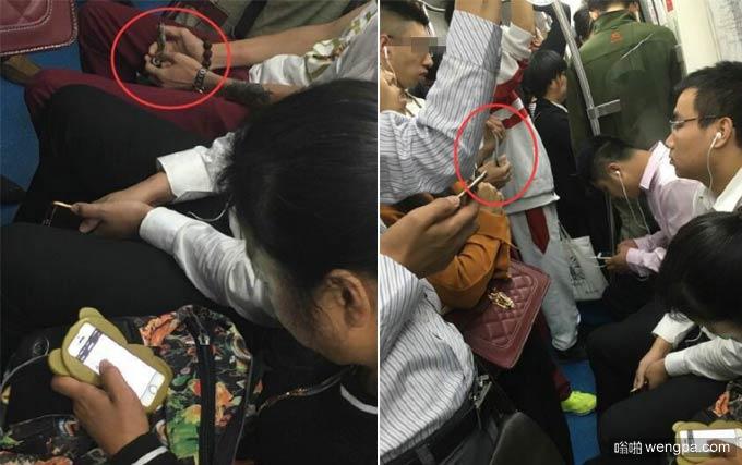男子地铁9号线把玩小蛇 看呆乘客 - 嗡啪网