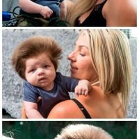 这位名叫Junior的歪果小baby 一头桀骜不驯的秀发却像是疯狂生长了几十年