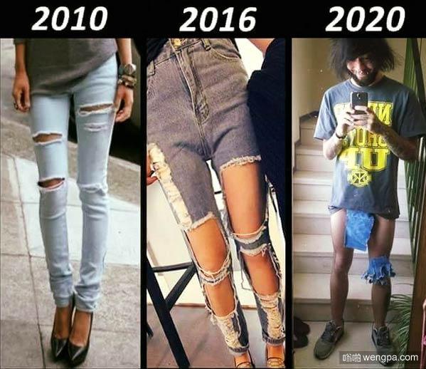 破洞牛仔裤流行趋势