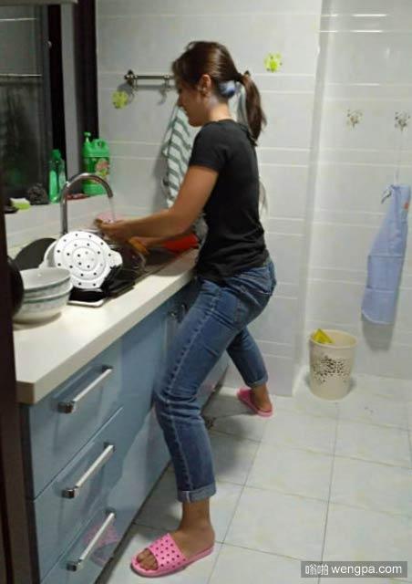 个子高的洗碗是什么样一种体验