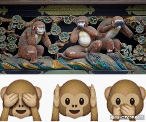 三猿 又称三不猴 三猿三不猴什么意思