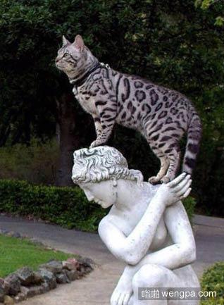 裸女雕塑:别闹了 快下去