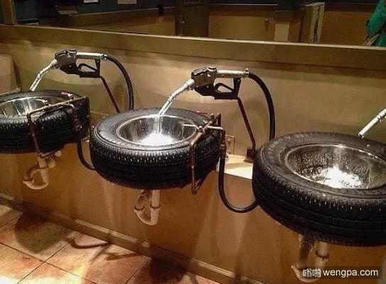 汽车主题洗手间