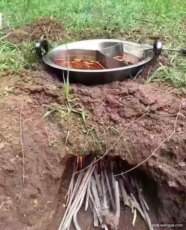 最接地气的火锅 搞笑图片 - 嗡啪网
